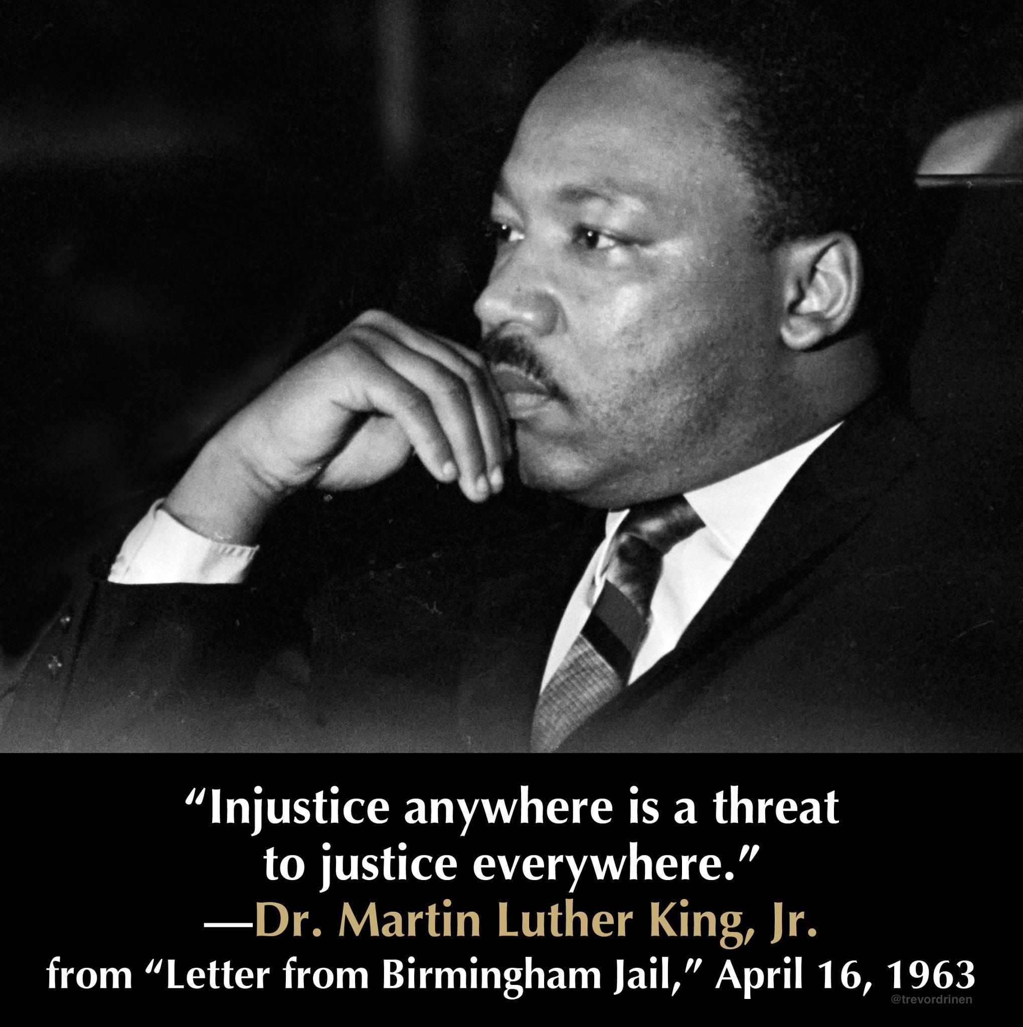 "martin luther king jr letter from First to face the judge was martin luther king jr, 27, the youthful pastor of dexter avenue baptist church in montgomery  king drafted his ""letter from birmingham jail,"" among the ."